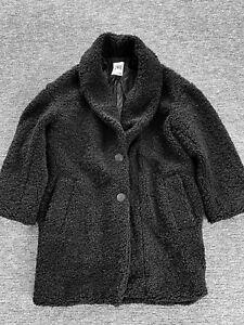 Women ZARA Teddy Design Fur Black Jacket Coat XS
