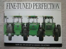 1991 JOHN DEERE 155-200-HP 60 SERIES,4560,4760,4960 TRACTORS 24pg BROCHURE MINT