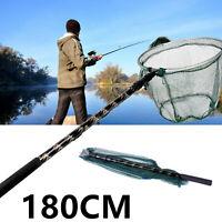 Lixada 180cm Retractable Telescoping Aluminum Pole Fishing Brail Landing Net