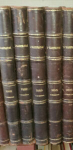 JOURNAL L'ILLUSTRATION RELIURE ANNEE 1889 COMPLETE 2 VOLUMES