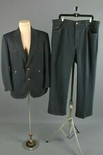 Men's 1970s Levis Western Leisure Suit Jacket 44 Pants 40x30 70s Vtg Polyester