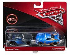 Cars 3 - Personaggi JACKSON STORM e DANNY SWERVEZ in Metallo Mattel Disney 1:55