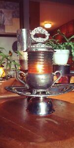 JAD Original BUG Glass Retro Lamp With Trinket Tray HI/Low Switch UNIQUE!