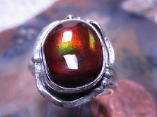 New Sterling Silver & Fire Agate Gemstone ring sz  8 1/2