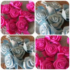 Large Satin Ribbon & Bow Roses Buds Embellishments