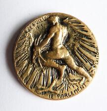"""Epingle médaille """"le parlement"""" signé René LALIQUE poilu 1915"""