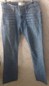 VGC Paper Denim & Cloth Stone Wash Flared Jeans SZ 27 Made in USA