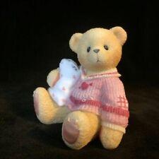 CHERISHED TEDDIES 1999 FIGURINE, ABBEY PRESS EXCLUSIVE, HUGS, PILLOW, 542091 NIB