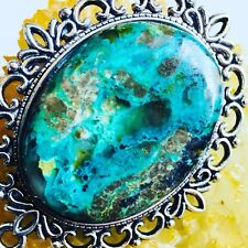 Large natural turquoise necklace pendant gemstones. Weight 26.3 grams