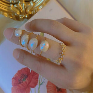 National Baroque special-shaped pearl wrapped gold wear ring Freshwater Wedding