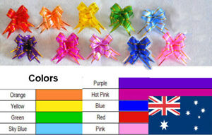 100 Magic Gift Ribbon Pull Bows Gold Edges wide 12mm