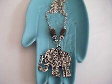 Spiritual Inspirational Wellness Necklace Elephant/Ganesha Labradorite Tibetan