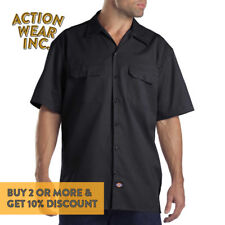 DICKIES 1574 MEN'S WORK SHIRT SHORT SLEEVE WORK UNIFORM BUTTON UP SHIRTS S - 5XL