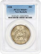 1938 New Rochelle 50c PCGS MS65+ - Pretty Reverse Toning - Low Mintage Issue