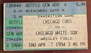 MICHAEL JORDAN Baseball DEBUT OFFICIAL Ticket & SCORECARD White Sox vs Cubs 4/7