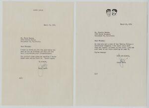 1954 Jerry Lewis Autographed Letters Signed Lewis & Martin Letterhead (2pcs) LOA
