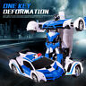Gifts For Boys RC Police Toy Car Transformation Robots Toys Cool Deformation Car
