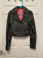 VS PINK LEATHER RUNWAY JACKET RARE XS