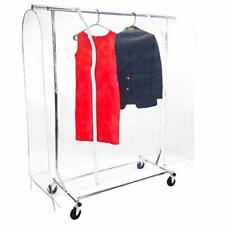 Clear 5 ft Clothing Rack Cover - Dustproof & Waterproof PEVA Material - Portable