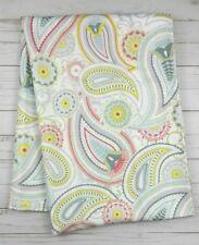 Fabric Tablecloth Pastel Paisley White Lavender Briella 60x84