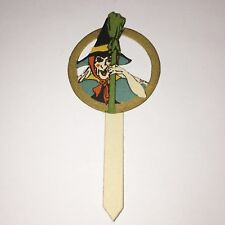 Pick for ices Halloween Witch & broom Cut-out Gibson Company 1920's