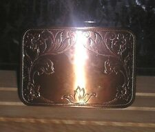 NIP , VINTAGE, , TANDY,  RECTANGLE COPPER COLOR, BELT BUCKLE, 3 BY 2 INCHES