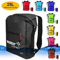 25L Waterproof Backpack Outdoor Dry Bag Sport Surfing Boating Fishing Rucksack