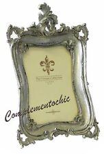 Cornice portafoto porta fotografie argento in stile Barocco rettangolare
