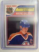 1985-86 O-Pee-Chee  1984-85 NHL Goal Scoring Leader #257 Wayne Gretzky Oilers SP
