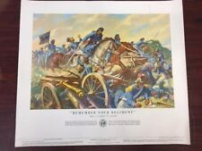 """Vintage 1953 REMEMBER YOUR REGIMENT 24"""" x 21"""" Poster US ARMY IN ARMY"""