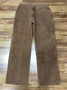 WOMENS 10 x 30 - Carhartt WB136 Sandstone Work Pants