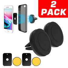 2 Pack Magnetic Car Mount Air Vent Stand GPS Cell Phone Holder For iPhone X 8 7