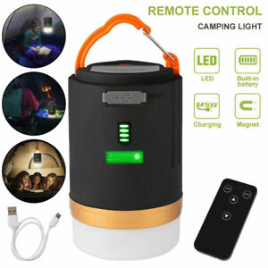 Rechargeable LED Camping Light Tent Lantern Outdoor Night Lamp Remote Control