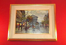 Antoine Blanchard -  Oil on Canvas - RUE ROYALE PARIS - Marcel Masson
