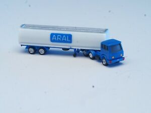 """Z-scale Noch Magirus  Semi Truck and trailer with tanker """"ARAL""""1:220"""