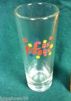Las Vegas city shot glass glasses 1 shots shooters vintage old casino gamble AH5