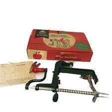 Vintage White Mountain Apple Parer Corer & Slicer Peeler Goodell Table Mount BOX