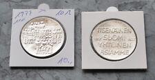 Finnland 10 Markkaa 1977 , Silber *** 60 J. Unabhängigkeit
