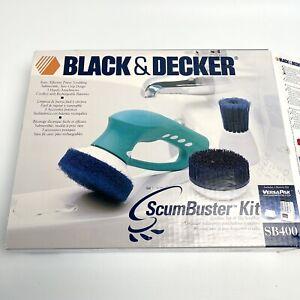 Black & Decker ScumBuster Kit Cordless Bathroom Wet Scrubber SB400  Good Battery