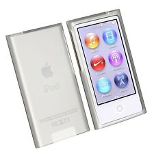 Frost Clear White Rubber Skin Case Cover for Apple iPod Nano 7th Gen