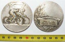 Médaille Cyclisme casquette grand sport en bronze Argenté ( 010 )