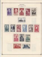 france 1946-1949 mounted mint & used stamps sheet ref 17757