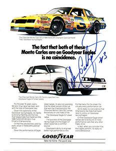 1987 Dale Earnhardt Sr original hand signed autographed Chevrolet advert