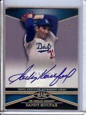 Sandy Koufax 2012 Topps Tier One Auto Autograph Dodgers #SK 31/50