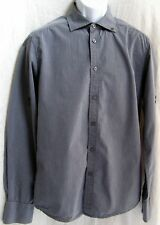 Men's Scotch Co. Creation Father and Son Long Sleeve Gray/Black Stripe Shirt C5