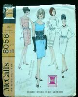 Lovely Vintage 60's McCall's 8056 DRESS Sewing Pattern Size 14