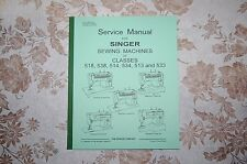 Complete 80-Page Service Manual: Singer 518 538 514 534 513 533 Sewing Machines