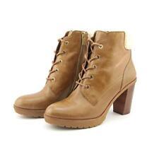 Botas de mujer de tacón alto (más que 7,5 cm) de color principal marrón talla 41