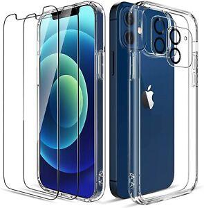Coque iPhone 13 Pro Max 12 11 transparent + Verre Trempé écran protection caméra
