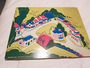 vintage Kiddicraft wooden jigsaw. Great condition.